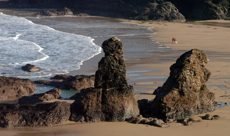 Arch rock at Porthcothan Bay